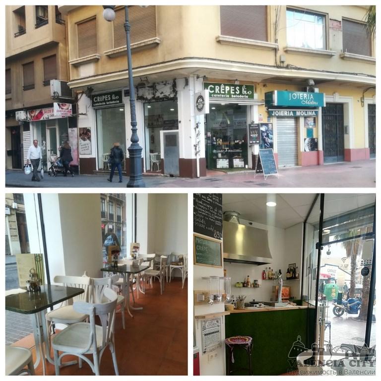 Аренда действующего кафе-ресторана в самом центре Валенсии, Испания