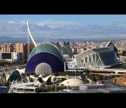 Апартаменты с видами на Город искусств и наук в Валенсии